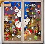 heekpek Weihnachtsmann-Satz Der Offenen Tür Weihnachten Aufkleber Wiederverwendbar Winter Window Decorationbild Weihnachtsdekoration Abnehmbare Fenster und Schaufenster