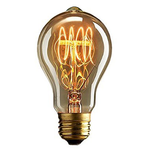 CMYK® Antike Edison Vintage MasterGlobe Glühbirne (40W, E27, 220-240V) Ideal für Nostalgie...