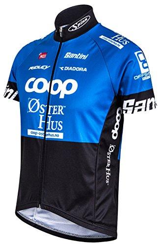 Santini Replica, Oster Hus Team, kurzärmliger Jersey, unisex, Oster Hus Team, blau / schwarz, 2X-Large (Team Jersey Replica)