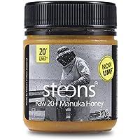 Steens Roher Manuka-Honig MGO 829 (UMF 20) 340 G | Purer Roher, Kalt Verarbeiteter, Nicht Pasteurisierter Honig Aus NZ | Natürliche Heileigenschaften Bei Halsschmerzen Und Zum Aufbau Des Immunsystems