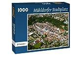 Mühldorfer Stadtplatz - Puzzle 1000 Teile mit Bild von oben