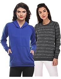 Purys Solid & Striped Sweatshirts Combo