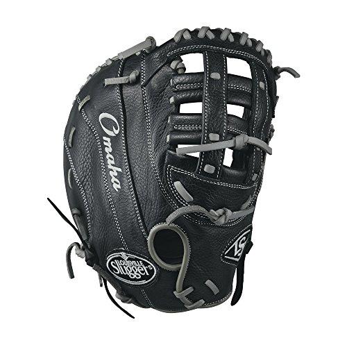 Louisville Slugger Omaha 1B Baseball Handschuhe, schwarz/grau, 30,5 cm