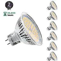Lampadine Led MR16 12V, KDP Lampada LED GU5.3 5W Faretto Luce Bianco Caldo 2800K,Pari a Lampadine Alogena da 50W,450LM,Non-Dimmerabile,Confezione da 6 Faretti LED