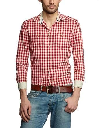 TOM TAILOR Herren Freizeithemd 20178710012/checked oxford shirt, Gr. 50/52 (L), Rot (4039 racing red)