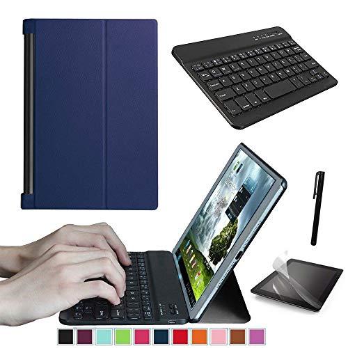 Starter-Set für Lenovo Yoga Tab 3 Pro 25,7 cm (10,1 Zoll) Tablet, Smart Case, Tastatur, Displayschutzfolie und Stylus-Eingabestift