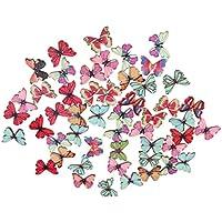Botones De Madera Redondos Color Mezclado Dibujo Para Coser Manualidades Bricolaje - Natural, mariposa