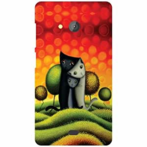 Back Cover For Microsoft Lumia 540 Dual SIM -(Printland)