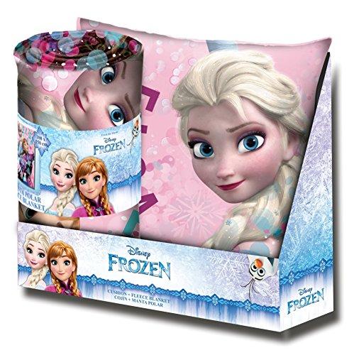 Kids Licensing-wd19149-Set Geschenk-Kissen und Kuscheldecke mit dem Bild von Frozen