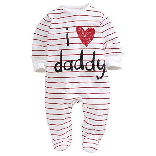 BABEMOON Babyspielanzug Ich liebe Mummy Baby Body Jungen Bodysuit Gedruckt Overall Sleepsuit