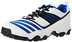 adidas Mens All Rounder Power 1 White, Black and Blubea Cricket Shoes - 7 UK/India (40.67 EU)