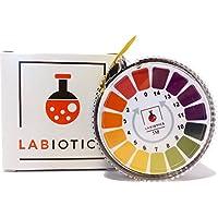 LABIOTICS Indikatorpapier für schnelle pH-Wert-Messungen (pH 0 - 14) - 5 Meter lange pH Papier Rolle - Ergibt bis zu 250 pH Teststreifen für Wasser, Urin, Speichel & Co.