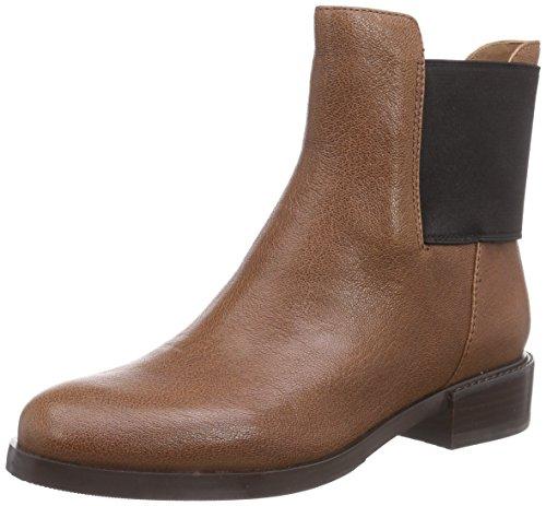 Clarks Marquette Wish Damen Chelsea Boots Braun (Dark Tan Lea)