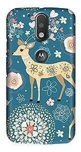 Meet Arts motoG4_Rd1040 Back Cover for Motorola G4 Plus