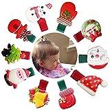 10pezzi di Natale per capelli carino vari modelli bambino ragazze accessori per capelli forcina Xmas party glitter per capelli, per per neonato, bambini