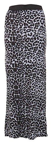 Socks Uwear--Gonna stampata, da donna, vita Elasricated Nero taglia gonna, 8-22 Leopard Grey