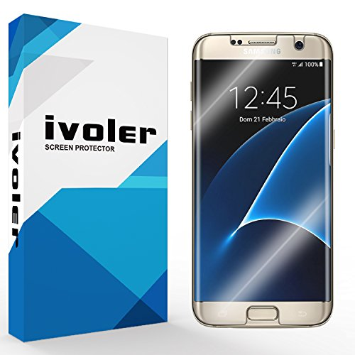 [Neue Version] Galaxy S7 Edge Schutzfolie Displayschutzfolie, iVoler 3D Vollständige Abdeckung [Wet Applied] [Anti-Kratz] [Blasenfrei] HD Transparent Displayschutz TPU Weich Folie Screen Protector Für Samsung Galaxy S7 Edge