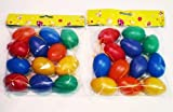 Ostereier bunt Kunststoff mit Aufhängung zur Dekoration 24-teilig 6cm (2 Päckchen á 12 Stück)