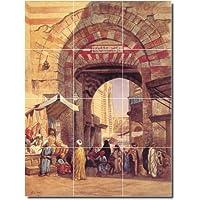 Edwin settimane City Backsplash tile Mural 30. 32,4x 43,2cm utilizzando (12) 4.25x 4.25piastrelle in ceramica.