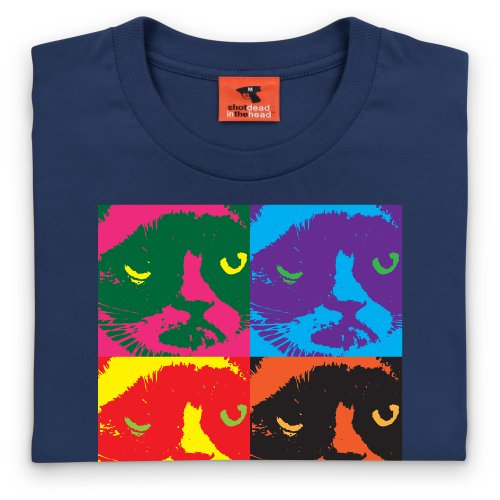Grumpy Cat T-shirt, Uomo Blu navy