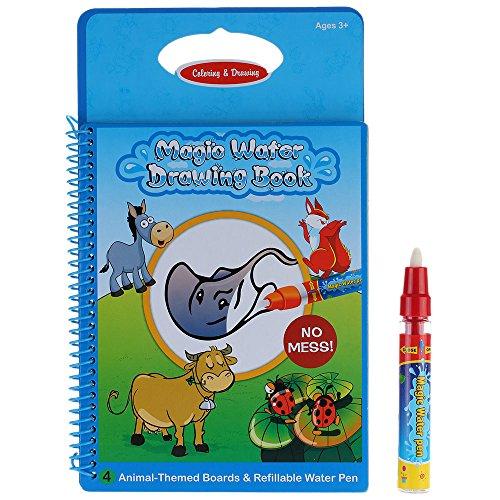 GoolRC Nicht-toxische magische Wasser-Zeichnungs-Malbuch Doodle mit Magic Pen Tiere Malerei keine Tinte pädagogisches Spielzeug (Spielzeug Mit Bildern)