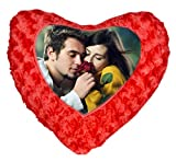 """Personalized Red Heart Shape Fur Pillow with Cover - 12"""" x 14"""" - SP-0007 - Customize with Your Photos & Messages"""