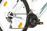 Multibrand, PROBIKE 6th SENSE, 460mm, 26 Zoll, Mountainbike, 18 gang, Schutzblech-Set, Für Damen, Weiß-Türkis Test