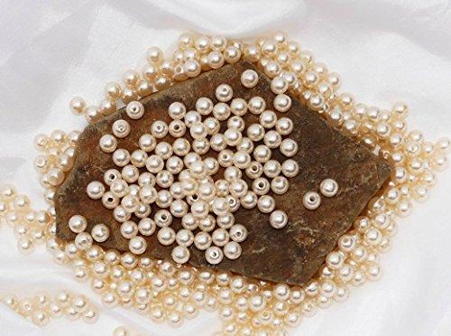 Bastel- & Künstlerbedarf Perlen, Schmucksteine &-kugeln 50 Perlen Perlmutt Champagner Creme Hochzeit Wachsperlen 10mm Perle Mit Loch