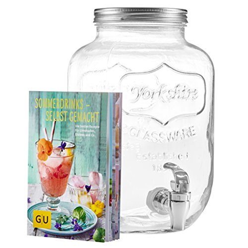 levivo Juego 2002000 0130 a dispensador de bebidas y exclusivo GU Booklet sommerdrinks, cristal,...