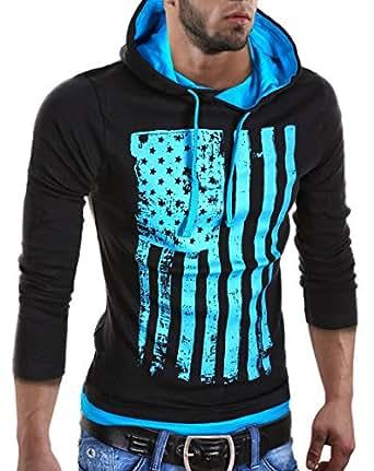 MT Styles - R-537 - Sweat-shirt à capuche - Noir - S