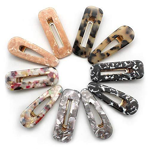 YGSAT 10 Stücke Eleganz Haarspangen Perle Haarspangen Mode Geometrische Acryl Harz Alligator Haarspangen Haarnadeln für Frauen Damen Braut Haarschmuck Mehrfarbig Haarkrallen & Spinnen