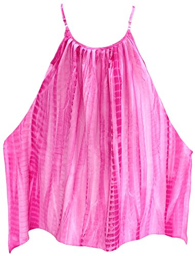 La Leela bikni Badebekleidung Badeanzug Kimono lose Bademode Frauen Casual  sundress vertuschen Rosa