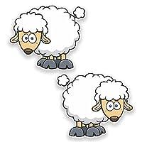 2 x 10cm Sheep Vinyl Sticker Laptop Helmet Bike Car Kids Farm Lamb Funny #9277