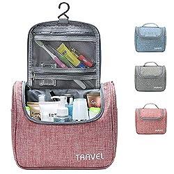 Kulturbeutel Waschtasche Unisex - Acdyion Aufhängen Kosmetiktasche Reise-Tasche für Herren und Frauen für Koffer & Handgepäck Urlaub Waschbeutel Toiletry Bag (Pink)