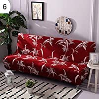 grefaydin Sofa Cover Feather Flamingo Stretch Armless Sofa Cover Couch Slipcover Furniture Protector - 6#