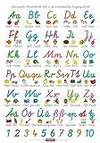 Fragenbär-Lernposter: Mein großes Schreibschrift-ABC in der Vereinfachten Ausgangsschrift (VA), L 70 x 100 cm (Lerne mehr mit Fragenbär)