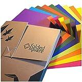 Folded Square Origami - Conjunto de Regalo de Papel para Papiroflexia | 100 Hojas, 15cm Cuadrado | Colección de Colores Opuestos