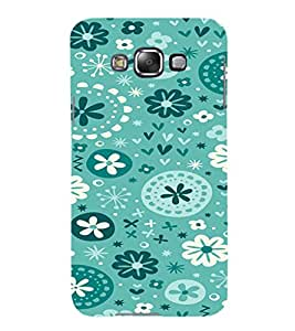 iFasho Modern Art Design animated cloth Pattern of flower Back Case Cover for Samsung Galaxy E7