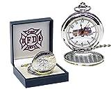 Unbekannt Runde Feuerwehr Taschenuhr in Geschenkbox Uhr