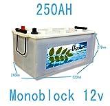 Bateria Monoblock Acido Plomo 250AH 12V