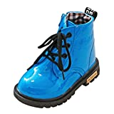 Zapatos para niños Moda Niños Niñas Martin Sneaker Botas de Nieve Gruesas de Invierno Zapatos Casuales para bebés Zapatos Antideslizantes Suaves LMMVP (25(2.5-3T), Azul)