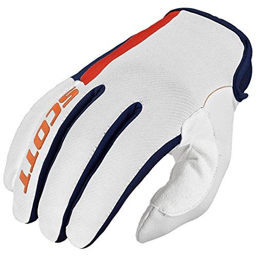 Scott 350 Dirt MX Motocross/DH Fahrrad Handschuhe weiß/orange 2016: Größe: L (10) -