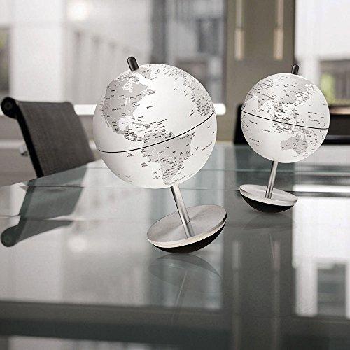 Atmosphere globo terráqueo Globe 11Swing blanco gris Designer Giacomo Mutti