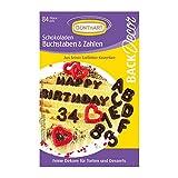 84 Günthart BackDecor Buchstaben & Zahlen | aus Schokolade | Essbar | Tortendeko Geburtstag