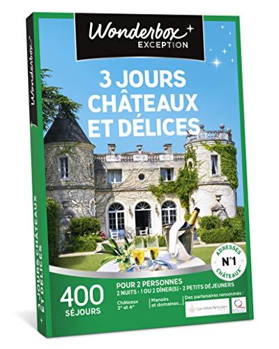 Wonderbox - Coffret cadeau noel pour couple - 3 JOURS CHÂTEAUX ET DÉLICES -...