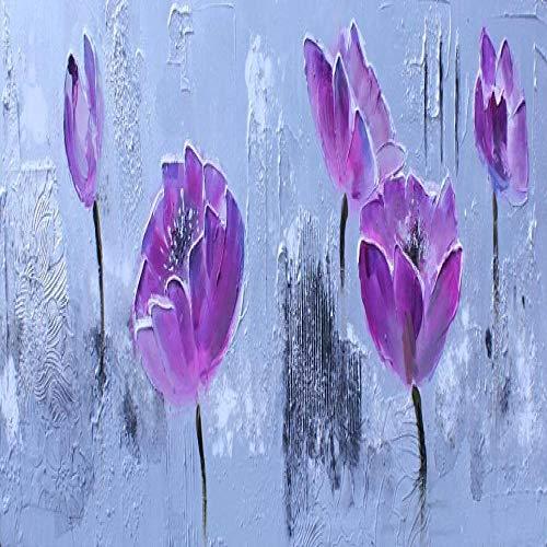 zgmtj Drucken Abstrakte Aquarell Orchidee Mohn Blume Landschaft Ölgemälde auf Leinwand Poster Moderne Wandbild Für Wohnzimmer Dekor