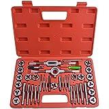 Gunpla Juego de Terrajas y Machos Métrica M3-M12 Herramientas para Roscar Material Acero de Tungsteno, 40 Piezas