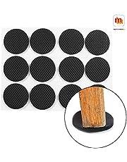 MIMU SHOP™ Self Adhesive Felt Pads for Furniture Round Self Sticking Protect Your Hardwood & Laminate Flooring, Black 80Pcs