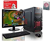 ADMI GAMING PC PACKAGE: Versatile Desktop Computer, 21.5 Inch 1080p Monitor, Keyboard, Mouse and Gaming HeadSet (PC SPEC: AMD Kaveri A8-7650K 3.8GHz Radeon R7 Quad Core APU Processor, USB 3.0, 500W PSU, 1TB Hard Drive, 8GB RAM, 24 x DVDRW Drive, Wifi, Red Devil Gaming Case, No Operating System)