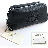 """SONNENLEDER - bolsa de cosméticos de calidad """"BERNINA"""" (con la selección) * Negro de cuero genuino *"""